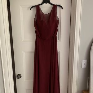 Burgundy Jenny Yoo Dress